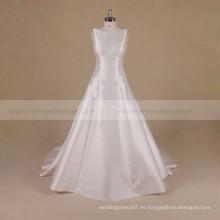 Una línea sin espalda Princesa Mikado vestido de novia