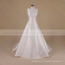 A Line Backless Princess Mikado Wedding Dress