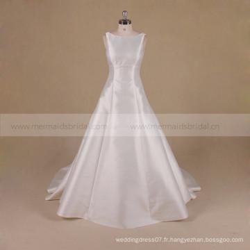 A Line Backless Princess Mikado Robe de mariée