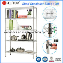 Assembly Adjustable Wire Book Shelving Rack of Home/Office Furniture