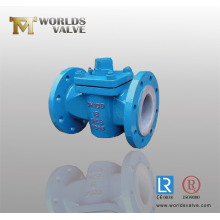 Wcb Plug Valve with PFA Sealing