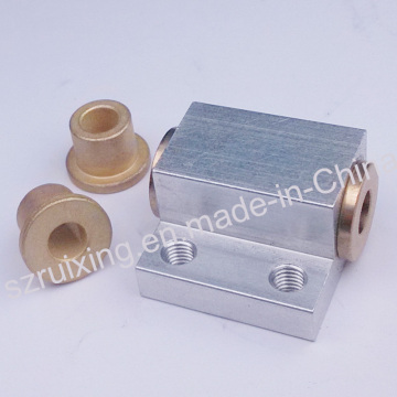 Aluminium- und Messingteil für Nähmaschine