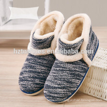 Men's boot slipper in winter keep warm indoor slipper knitting upper winter shoes