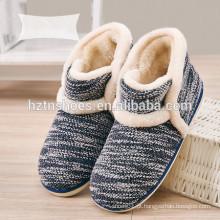 Chinelo de bota de homens no inverno manter quente chinelo interior tricô sapatos de inverno superior
