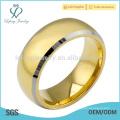 Einfache Überzug 18k Gold Wolfram Ring für Männer