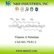 Precio competitivo Aceite de palmitato de vitamina A 1,700,000IU / g grado alimenticio