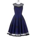 Belle Poque Stock Sleeveless Round Neck N/T Taffeta Dark blue Vintage Retro 50s 60s Dress BP000112-4