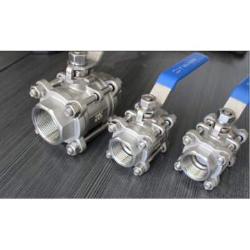1000wog Stainless Steel 3PC Female Threaded Ball Valve with NPT/Bsp (Q11)