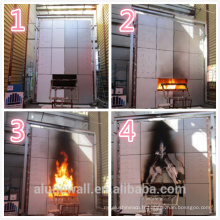 Alunewall acier corten ignifuge matière première ignifuge panneau composite en aluminium
