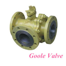 T Shaped Three-Way Switching Type Floating Ball Valve (GQ45F/H)