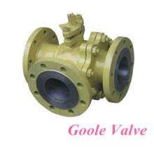 Válvula de esfera de flutuação em forma de três vias em forma de T (GQ45F / H)