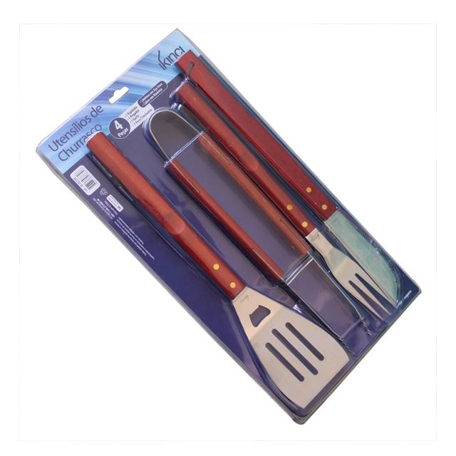 Grill Werkzeug mit Griff Set 5 Stück Schwarz Golftasche