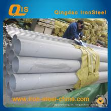 Tubo de acero inoxidable soldado DIN17457 para tubo de transporte de fluidos
