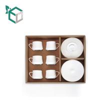 Luxus-Alibaba China-Lieferanten-Papprecycleable Kaffeetassen stellten die Verpackung ein