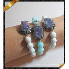 2016 Bracelets druzy de mode nouvelle vente en gros, bracelet en bijoux en pierre (CB020)