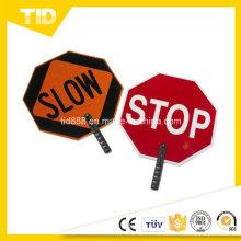 Pala de ABS muestra etiqueta reflectante para la seguridad del tráfico