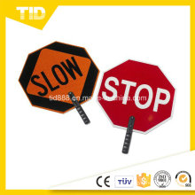 ABS Paddle Sign Reflective Label for Traffic Safety