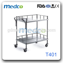 Panier médical en acier inoxydable, panier de transport alimentaire pour hôpital T401