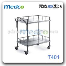 Тележка из нержавеющей стали, тележка для перевозки продуктов питания для больницы T401