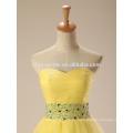 Vestido de noche de los vestidos formales de Tulle del color amarillo de Alibaba 2017 de la nueva manera en China