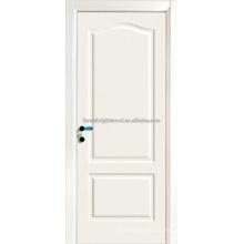 2 panel Swing Opeing blanco pintado MDF puertas de talla
