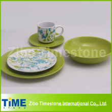 Stoneware Colorful Dinner Set with Decal