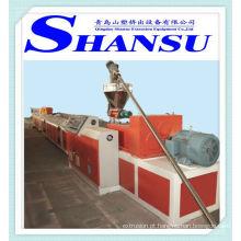Máquina de produção de perfil de plástico de madeira (PE / PVC + pó de madeira)