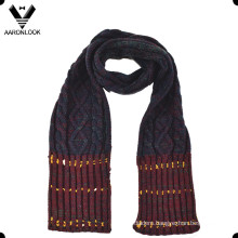 Fashion Acrylic Jacquard Cable Pattern Winter Children Scarf