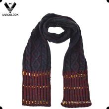 Мода акриловые жаккардовый кабель шаблон зимних детей шарф