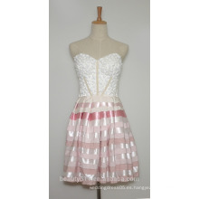 Organza del cortocircuito / del mini del amor del A-line del vestido de partido con rebordear el vestido corto AS2 del baile de fin de curso