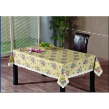 PVC Embossing Tablecloth with Flannel Backing (TJG0006)