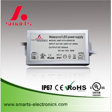 waterproof constant current 500ma 35w ac to dc power supply