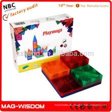 Playmags neue magnetische Gebäude Fliesenblöcke 3D Intelligenz Spielzeug 14pcs Sets