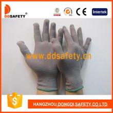 13 Gauge graue Nylonhandschuhe, Antistatische Handschuhe (DCH128)