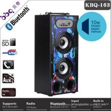 Kreatives geführtes tragbares mini usb-Ladegerät bluetooth Lautsprecher mit morgens fm Radioherstellern mit TF / FM / Freisprecheinrichtung