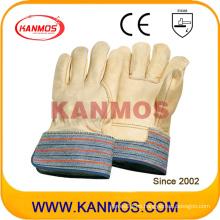 Cuero de grano de vaca guantes de trabajo de seguridad industrial (12006)