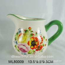 Decal printed ceramic Water Pitcher