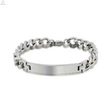Aço inoxidável em massa atacado unisex pulseira, premier projetos em branco pulseira de prata jóias