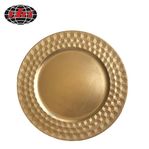 Diamond Pattern Plastic Plate with Metallic Finish