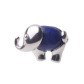Plated Silver Natural Semi Precious Stone Elephant Rings