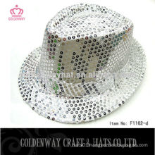 Wholesale girls sequined hats fedora hat