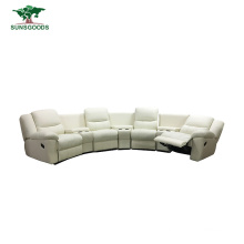 4 Seating Home Theater Lazy Boy Reclining Leather Sofa Set