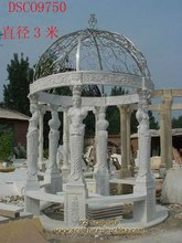 Marble Gazebo with Iron Roof(GAB-A006)