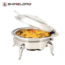 Venta caliente C054 Heavy Duty Heavy Duty Electric Round Roll Chafing Dish Calentador de acero inoxidable
