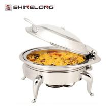 Hot Sale C054 Heavy Duty Roupeiro Elétrico De Luxo Roubado De Chafing Dish Aquecedor De Aço Inoxidável