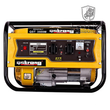 Generador de gasolina manual 6.5HP Generador de fase única 2.5kVA