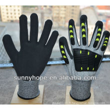 Choix de la qualité des gants TPR résistant aux chocs haute résistance anti-chocs