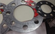 non pure asbestos rubberized PTFE copper teflon graphite without no wire joint sheet gasket cutter machine
