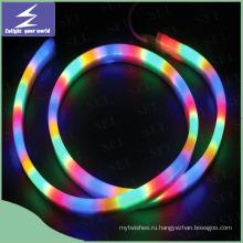 110V круглый гибкий светодиодный неоновый свет для украшения