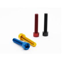 ANTS Fahrrad-Headset-Schraube M6 * 30 mm Aluminium-Road-Rading-Headset-Schraube 4 Farben Fahrrad-Headset-Teile